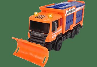 DICKIE TOYS Scania Winterdienst, Räumfahrzeug, LKW mit Salzbehälter Spielzeugauto Orange
