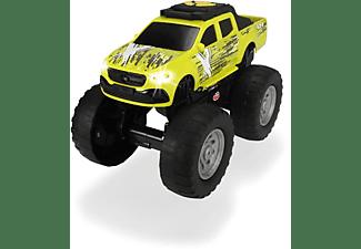 DICKIE TOYS Mercedes Benz X, Wheelie Raiders, Monster-Truck Spielzeugauto Gelb