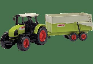 DICKIE TOYS CLAAS Ares Set, Traktor mit Anhänger, Kippmechanismus Spielzeugauto Mehrfarbig