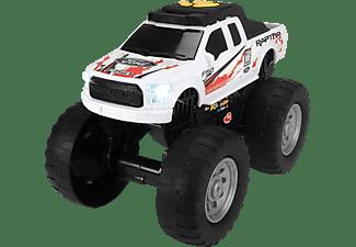 DICKIE TOYS Ford Raptor, Wheelie Raiders, Monster-Truck Spielzeugauto Weiß