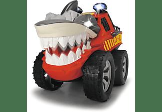 DICKIE TOYS Shaking Shark, motorisiertes Spielzeugauto, Licht & Sound Spielzeugauto Rot