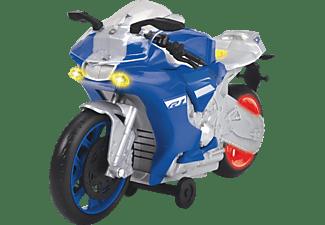 DICKIE TOYS Yamaha R1, Wheelie Raiders, Spielzeugmotorrad mit Motorisierung Spielzeugauto Blau
