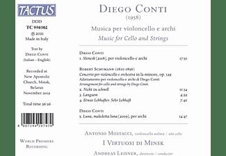 Mostacci,Antonio/Leisner,A./I Virtuosi di Minsk - MUSICA PER VIOLONCELLO E ARCHI  - (CD)