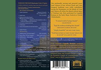 Alexander/cappella Romana Lingas - Venice in the East  - (CD)