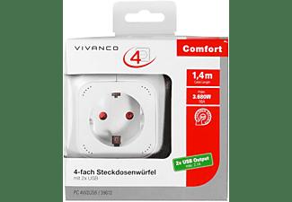 VIVANCO 4fach Steckdosenleiste