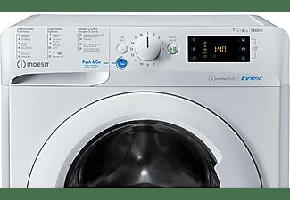 Lavadora secadora - Indesit BDE 761483X W SPT N, 7 kg/6kg 1200 rpm, 16 programas, Woolmark, Blanco