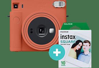 FUJIFILM instax SQUARE SQ1 Film Set Sofortbildkamera, Terracotta Orange