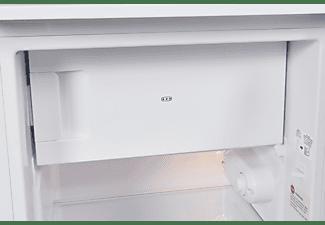 EXQUISIT KS117-3-040E Kühlschrank (E, 850 mm hoch, Weiß)