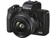 CANON Canon EOS M50 MK II Kit Systemkamera mit Objektiv 15-45mm, 7,5 cm Display Touchscreen, WLAN