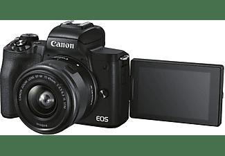 CANON Canon EOS M50 MK II Kit Systemkamera mit Objektiv 15-45 mm + 55-200 mm, 7,5 cm Display Touchscreen, WLAN