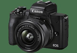 Cámara EVIL - Canon EOS M50 Mark II 15-45, Con objetivo EF-M 15-45 mm IS STM, 24.1 MP, 4K, Montura EF-M, Negro