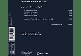 Herbert Blomstedt Gewandhausorchester Leipzig - BRAHMS: SYMPHONY NO. 2 And ACADEMIC FESTIVAL OVERTUR  - (CD)