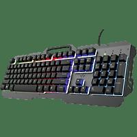 Teclado gaming - GXT 853 Esca Metal Rainbow, USB, Retroiluminación RGB, 12 Teclas Programables, USB, Negro