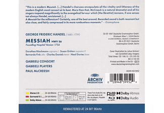 Gabrieli Consort & Players, Paul Mccreesh - Händel: Messiah (Ga,BD-A)  - (CD + Blu-ray Audio)