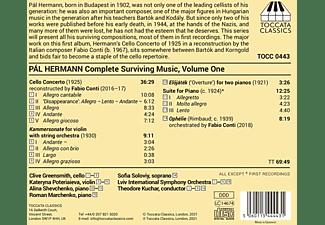 Soloviy/Poteriaieva/Greensmith/Kuchar/Lviv PO/+ - Complete Surviving Music - Vol.1  - (CD)