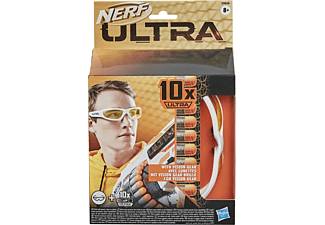 NERF Ultra Vision Gear Brille und 10 Nerf Ultra Darts Nachfüllpack Mehrfarbig