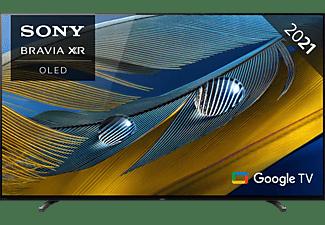 SONY XR-65A80J OLED TV (Flat, 65 Zoll / 164 cm, OLED 4K, SMART TV, Google TV)