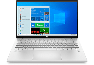 HP Convertible Pavilion x360 14-dy0900ng, i7-1165G7, 16GB/512GB, 14 Zoll Touch FHD, Natursilber