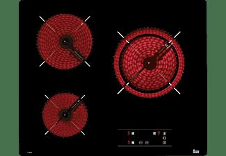 Encimera - Teka TB 6315, Vitrocerámica, Eléctrica, 3 zonas, 27 cm, Negro