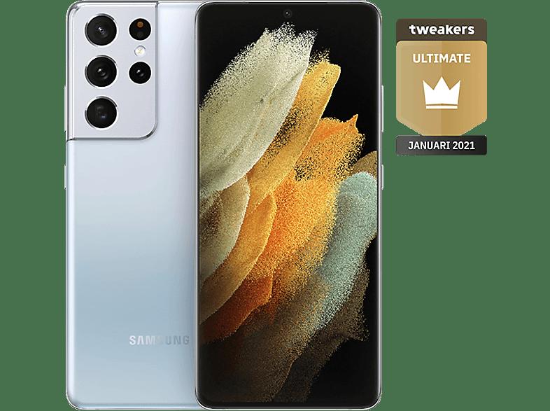 SAMSUNG Smartphone Galaxy S21 Ultra 5G 128 GB Phantom Silver (SM-G998BZSDEUB)