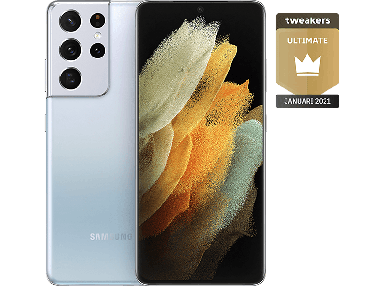 SAMSUNG Smartphone Galaxy S21 Ultra 5G 256 GB Phantom Silver (SM-G998BZSGEUB)