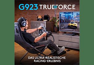 LOGITECH G923, Rennlenkrad und Pedale für PS5, PS4 und PC, Schwarz