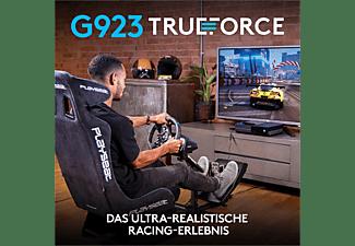 LOGITECH G923 für Xbox X/S, Xbox One und PC, Lenkrad mit Pedalen, Schwarz