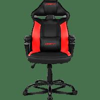 Silla gaming - Drift DR50 Pro, Poliuretano, Función giratoria, 120 kg, Sistema de bloqueo de inclinación, Rojo