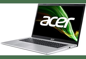 ACER Aspire 3 (A317-33-P9J7), Notebook mit 17,3 Zoll Display, 8 GB RAM, 512 GB SSD, Intel UHD Grafik, Silber