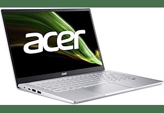ACER Swift 3 (SF314-511-52YM) mit Tastaturbeleuchtung, Notebook mit 14 Zoll Display, Intel® Core™ i5 Prozessor, 8 GB RAM, 256 GB SSD, Intel Iris Xe Grafik, Silber