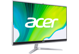 ACER Aspire C24-1650, All-in-One PC mit 23,8 Zoll Display, Intel® Core™ i5 Prozessor, 8 GB RAM, 1 TB SSD, Intel Iris Xe Grafik, Silber/Grau