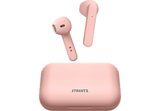 STREETZ True Wireless Stereo hörlurar med laddningsetui, semi-in-ear, BT 5, matt rosa