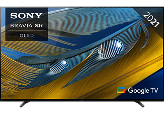 SONY XR-77A80J OLED TV (Flat, 77 Zoll / 195 cm, OLED 4K, SMART TV, Google TV)