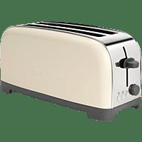 Tostadora - Taurus Vintage Cream 960656000, 1400 W, Descongelar, Recalentar, 2 Ranuras extralargas, Crema
