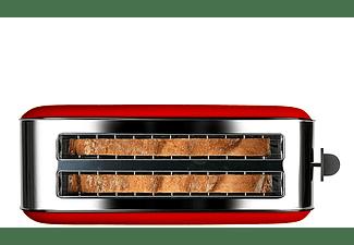 Tostadora - Taurus Vintage Red 960654000, 1400 W, Descongelar, Recalentar, 2 Ranuras extralargas, Rojo