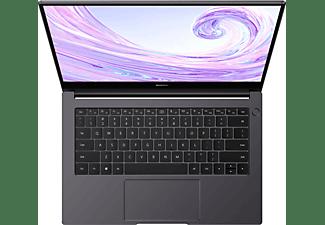 HUAWEI MATEBOOK D 14, Notebook mit 14 Zoll Display, Windows 10 Home, Intel® Core™ i5 Prozessor, 16 GB RAM, 512 GB SSD, Intel® UHD Grafik 620, Space Gray