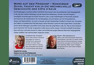 Gert Heidenreich - Lange Schatten Über Der Cote D'Azur  - (MP3-CD)