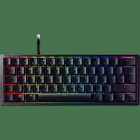 RAZER Gaming Tastatur Huntsman Mini, Klickend optischer Switch, USB-C, DE, RGB, Schwarz