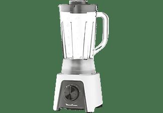 Batidora de vaso - Moulinex Blendeo+ LM2C0110, 450 W, 1.5 l, 2 Velocidades, 4 Cuchillas, Blanco