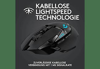 LOGITECH G502 Lightspeed Gaming Maus, Schwarz
