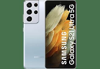 "Móvil - Samsung Galaxy S21 Ultra 5G, Plata, 256GB, 12 GB RAM, 6.8"" Dynamic AMOLED 120Hz, Exynos 2100, 5000 mAh"