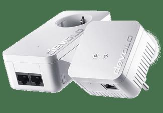 Adaptador PLC - Devolo 9637 dLAN 550 Starter Kit, WiFi, 500 Mbps, 2 Adaptadores, Blanco
