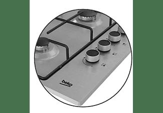 Encimera - Beko HIGG 64103 SX, Acero inoxidable, Gas Butano, Encastrable, 4 quemadores, 60 cm, Inox