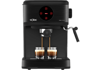 Cafetera express - Solac S92012400 CE4498, 850 W, 1.5 l, 20 bar, 2 Tazas, Negro