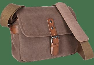 ROLLEI Kameratasche Messenger Bag mit Regenschutz, Canvas,  Braun