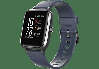 HAMA Fit Watch 4900 Smartwatch Edelstahl Kunststoff, 255 mm (Länge insgesamt), Dunkelblau