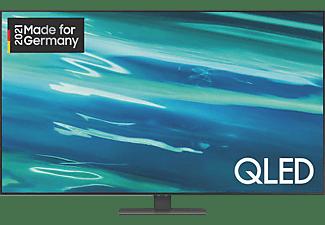 SAMSUNG GQ55Q80A QLED TV (Flat, 55 Zoll / 138 cm, UHD 4K, SMART TV, Tizen)