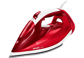 Plancha - Philips Azur GC4554/40, 2500 W, Plancha de vapor, Rojo