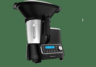 Robot de cocina - Moulinex ClickChef HF4SPR30, 5 programas, 32 funciones, 13 vel., 7 accesorios, Libro recetas
