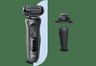Afeitadora - Braun, Series 6 60-N1200s, Recortadora de precisión, Eléctrica, Autonomía 50 min, Gris